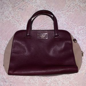 Kate Spade maroon  two tone purse